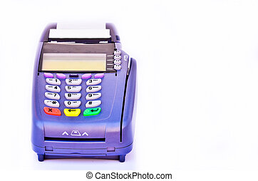 Portable Credit Card Terminal on Base - Portable Credit Card...