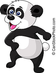 Panda cartoon dancing - Vector illustration of Panda cartoon...