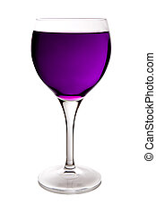 purple wine glass - beautiful glass filled with purple water...