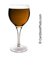 orange wine glass - beautiful glass filled with orange water...