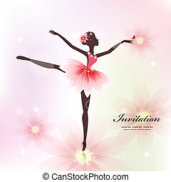 Pretty dancer for your design