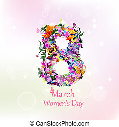 Greeting card with March 8