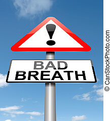 Bad breath concept - Illustration depicting a sign with a...