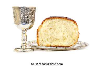 Communion - Holy Communion. Bread and cup with wine