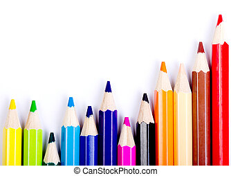 Colorful of pencils in concept all for one ,team work...