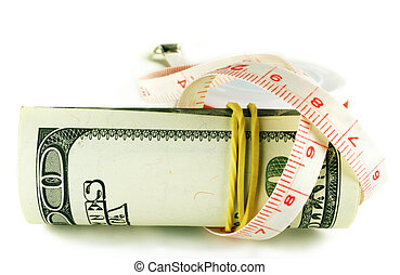 One hundred dollar bill roll - dollar grows thin - dollar...