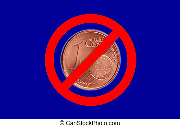 no symbol - A no symbol with a Euro coin