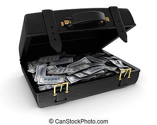 maleta, dinero