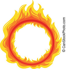 A fireball - Illustration of a fireball on a white...