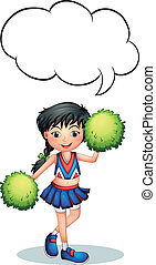 A cheerleader with an empty callout - Illustration of a...