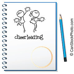 A notebook with a cheerleading design - Illustration of a...