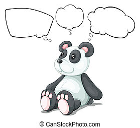 A toy panda with empty thoughts - Illustration of a toy...