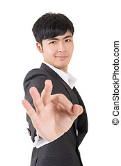 ok gesture - Businessman give you a gesture of ok, closeup...