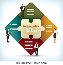 Puzzle presentation template - Business presentation...