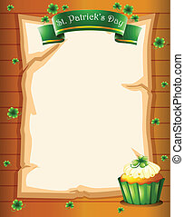 A stationery for St Patricks day - Illustration of a...