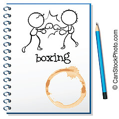 A notebook with two boxers at the cover page