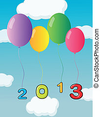 Balloons for the year 2013