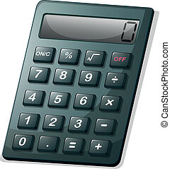 A calculator - Illustration of a calculator on a white...