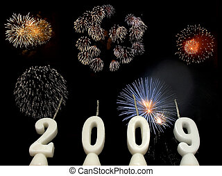 New Year 2009 - 4 - New Year 2009: candles showing year 2009...