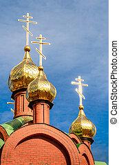 Christian church against the blue sky