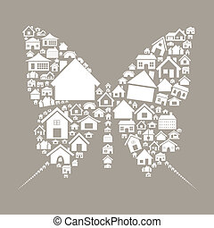 House the butterfly