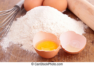 flour and egg