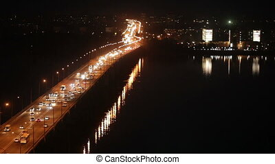 Bridge on the River Dnieper - Central road bridge in...