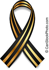 St George Ribbon - Vector black and gold St George Ribbon