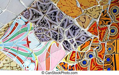 aleatorio, mosaico, patrón