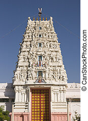 Hindu Temple In Pushkar - Ornate tower of Rangnath Hindu...