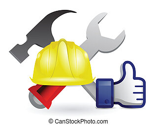 like under construction sign illustration design over white
