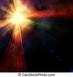 background of colorful luminous rays
