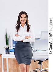 Portrait of smiling businesswoman at office