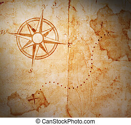 old treasure map - Old treasure map