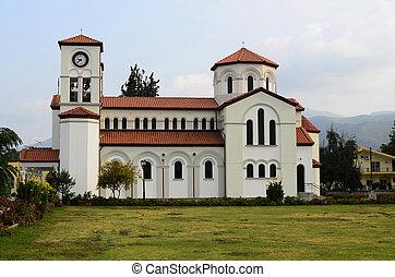 Greece, orthodox church Agios Grigorios in Nea Karvali