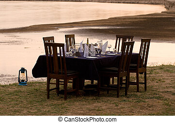 Formal Table Setting on Rivers Edg - A formal table setting...