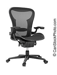 Gray office chair isolated on white background