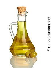 aceituna, aceite, condimento, vegeterian, alimento