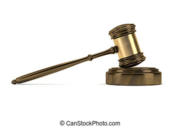 judge gavel - An image of a wooden judge gavel