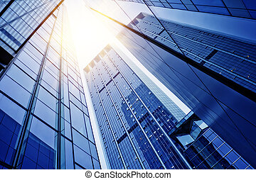 Office building - disappearing glass office buildings in the...