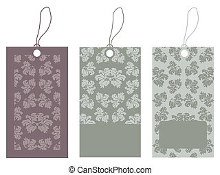 Price tags with special floral design