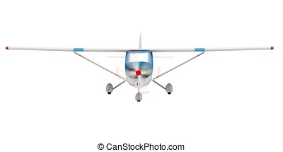 3d small plane  isolated on white background