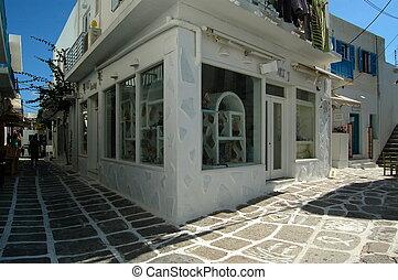 Naoussa street scene