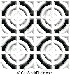 White stone vent Seamless pattern