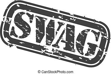 Grunge swag rubber stamp, vector illustration