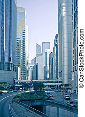 hongkong - traffic through downtown HongKong