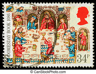 Britain Domesday Book Postage Stamp - UNITED KINGDOM - CIRCA...