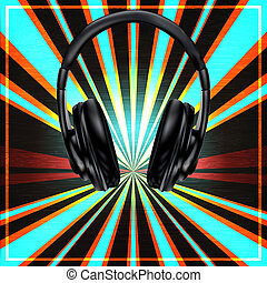 DJ Set Poster - Background illustration in a Club or DJ set...
