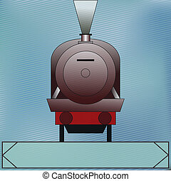 Vintage Steam Locomotive, Vector background with a classic...