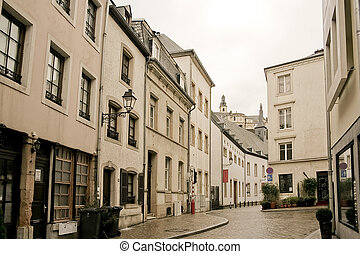 Ville du Luxembourg - old town of Luxembourg in the heart of...
